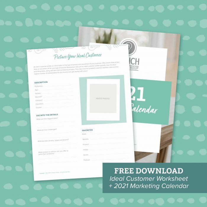 Retail Marketing Calendar and Customer Avatar Worksheet