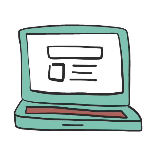 web design on a laptop