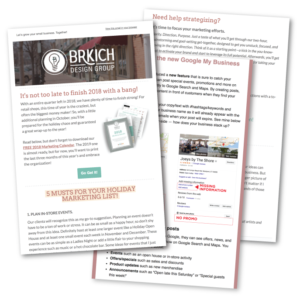 Brkich Design Group - Mailing List