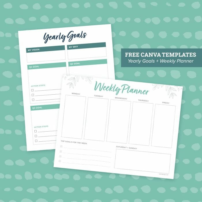 Brkich Design Group Yearly Goals & Weekly Planner Worksheets