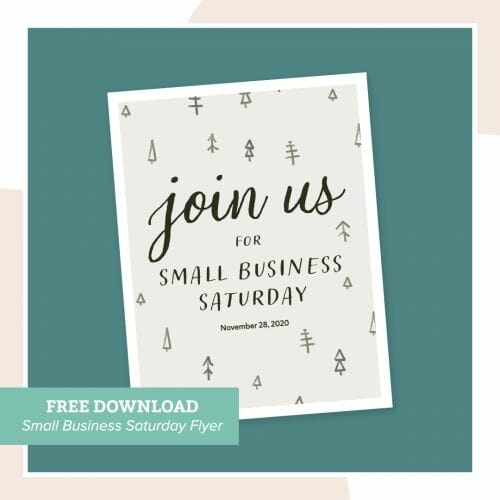Brkich Design Group Small Business Saturday - Free Flyer Download