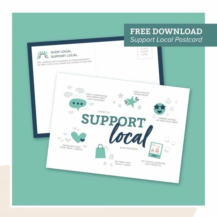 Brkich Design Group Shop Local Postcard