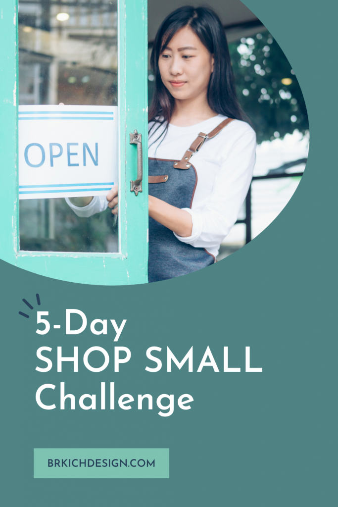 BDG Blog-5 Day Shop Small Challenge