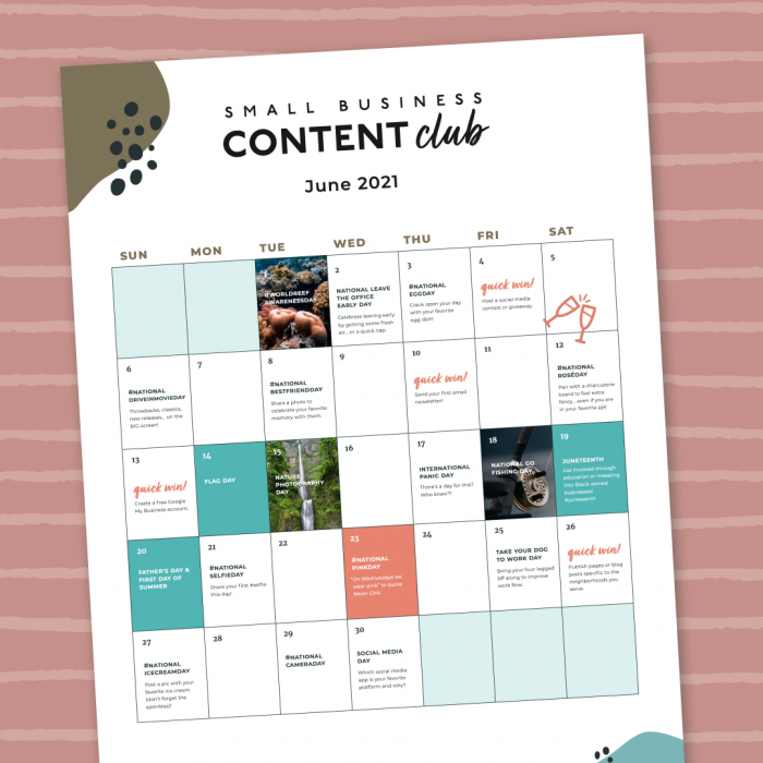 Small Business Content Club - June 2021