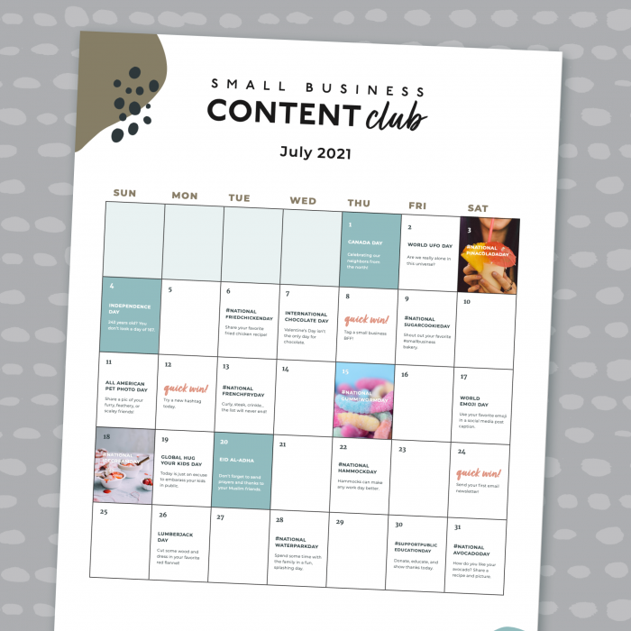 Promo Calendar - July 2021